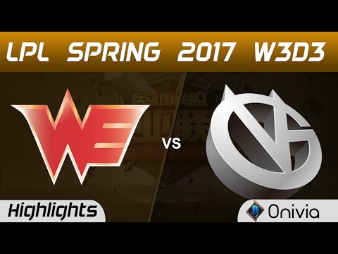 WE vs VG Highlights Game 2 LPL Spring 2017 W3D3 Team WE vs Vici Gaming