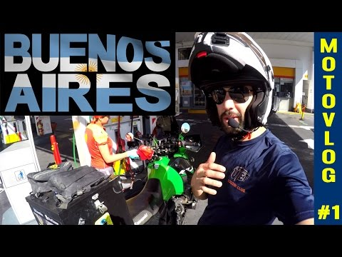 The New Adventure Begins in Buenos Aires Argentina on a KLR 650 [MotoVlog #1]