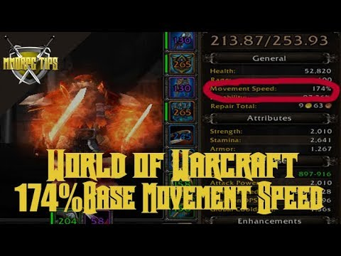 WoW BFA 174% Movement Speed Fury Warrior Guide