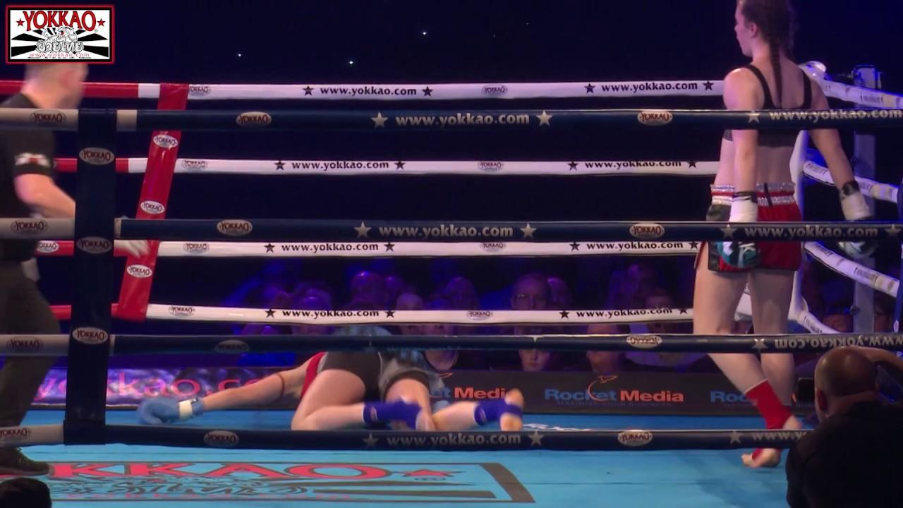 KO in 27 sec Muay Thai Female Fight - YOKKAO 31
