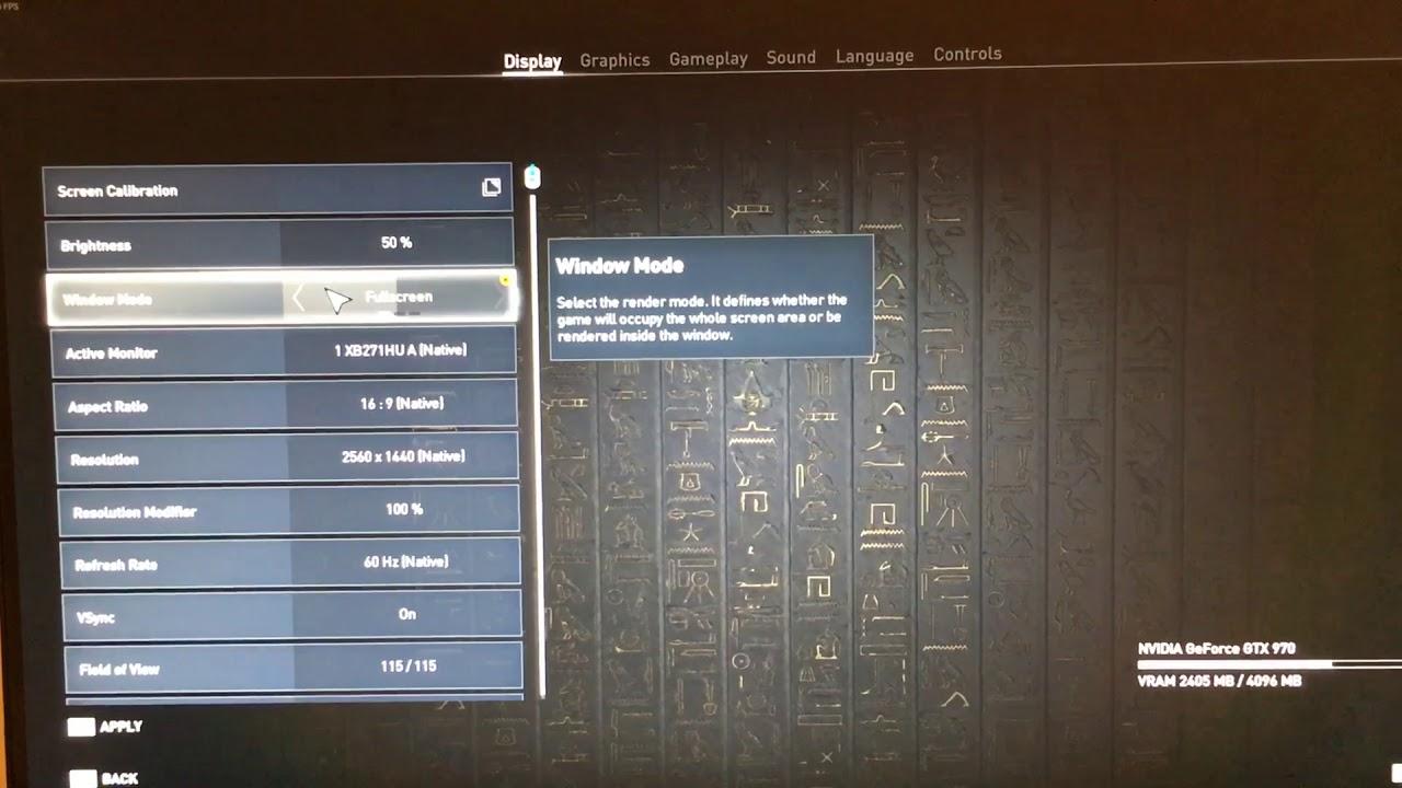 Assassin's Creed Origins black screen flicker