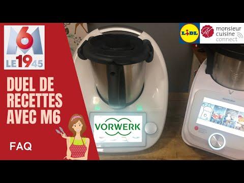 DUEL DE RECETTES AVEC M6 : FAQ   LE 19 45 (THERMOMIX TM6 VS Monsieur Cuisine Connect Sand Cook&Look)