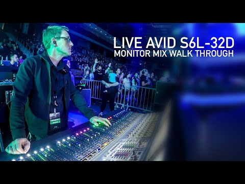 Live Annotated Monitor Mix Walk Through Avid S6L-32D