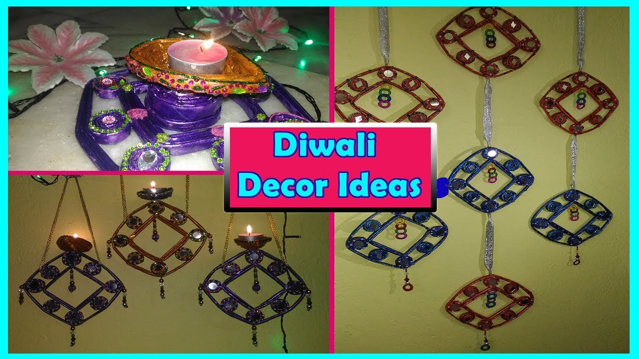 Diy diwali decoration ideas diya from waste materials for Room decoration from waste material