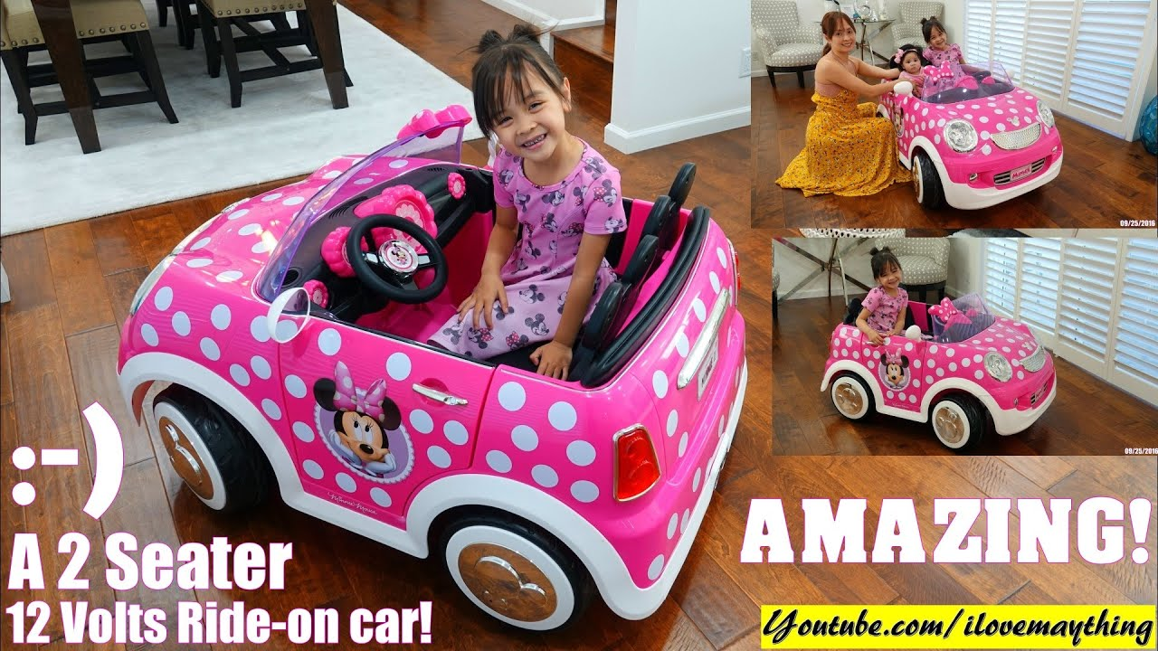 Minnie Mouse Pink Electric Car