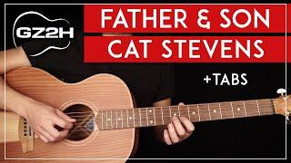 Father & Son Guitar Tutorial Cat Stevens Guitar Lesson  Chords + Solo 