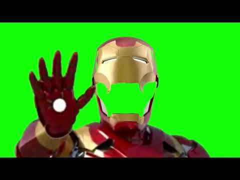 Green Screen Iron Man helmet open and close