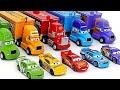سيارة ديزني ماكوين! العثور على بيض اللون مع الأصدقاء على ماك الناقل! | دودو بوب توي