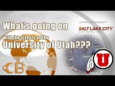 CBTV-Salt Lake City with Kelsey Earl| Street Construction at the University of Utah!