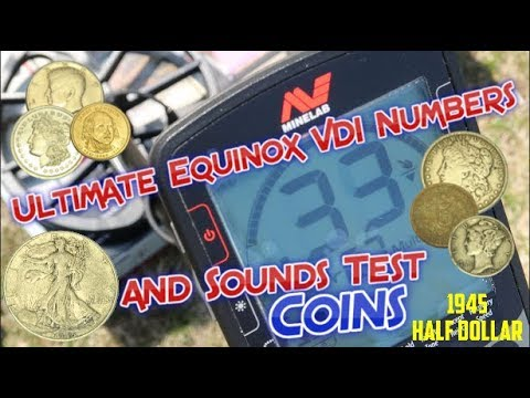 Ultimate Minelab Equinox 600 / 800 VDI Numbers and Sounds - Coins, Silver and Clad