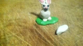 как сделать зайчика с сердечком из пластилина
