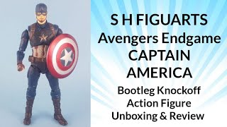 HD Knockoff s.h figuarts captain America endgame action figure unboxing /review  knockoff/bootleg