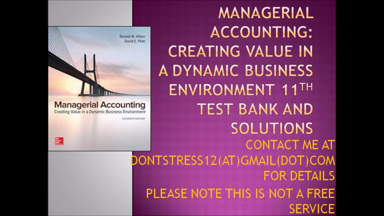 managerial accounting creating value in a dynamic business pdf