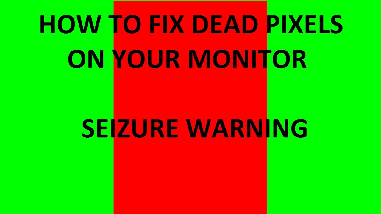 how to fix dead pixels on your monitor seizure warning 16 9 1080p youtube. Black Bedroom Furniture Sets. Home Design Ideas