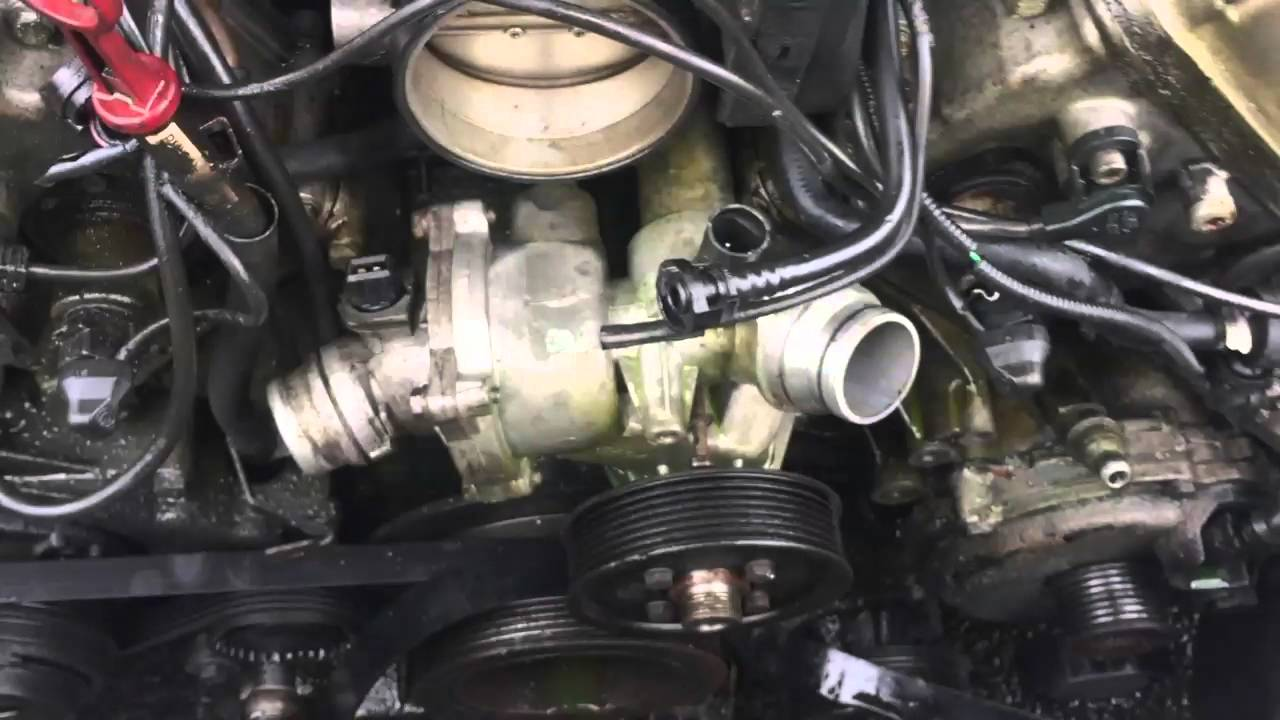 how to replace a water pump easy on a bmw most 4 4 youtubehow [ 1280 x 720 Pixel ]