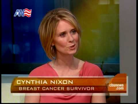 Cynthia Nixon speaks about breast cancer - YouTube