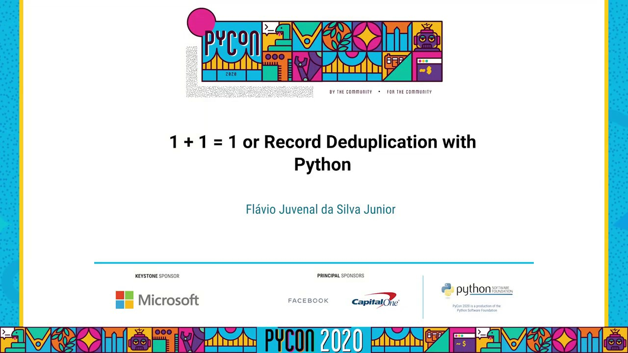Image from 1 + 1 = 1 or Record Deduplication with Python