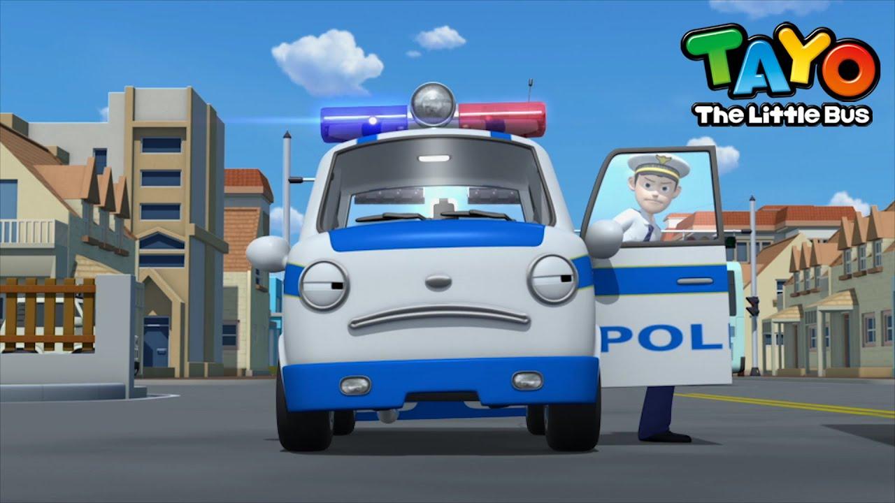 tayo çizgi film çocuklar için l Yolda, polis arabası ! l USLU DURMAK ZORDUR l KÜÇÜK OTOBÜS TAYO