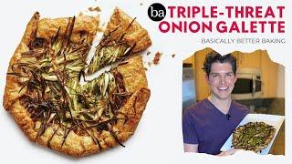 Testing Sohla's Triple Threat Onion Galette   Basically Better Baking   Bon Appétit Review 68
