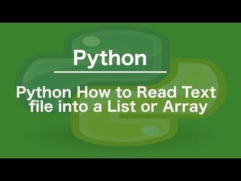 Python How to read text file into a list or array