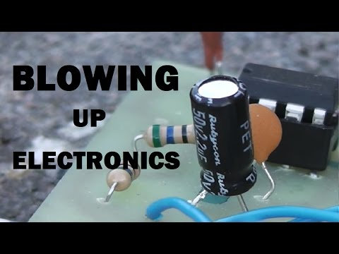 Blowing up electronic components