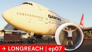 Qantas Founders Museum 747 707 tour - Longreach EP07