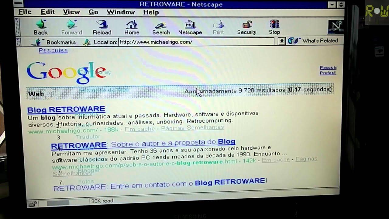 Navegando na Web com um 80386 no Windows NT 3.51 ...