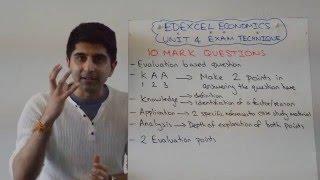 Edexcel A2 Economics Unit 4 - 10 Marker Exam Technique