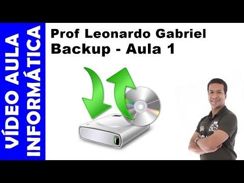 Vídeo aula - Informática - Cópias de segurança (Backup / Becape) - Aula 1