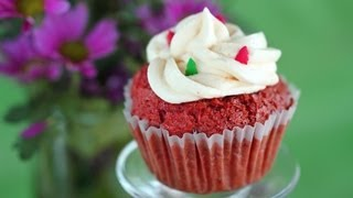 Red Velvet Cupcakes With Buttercream Frosting Recipe 레드 벨벳 컵케이크 만들기 - 한글자막