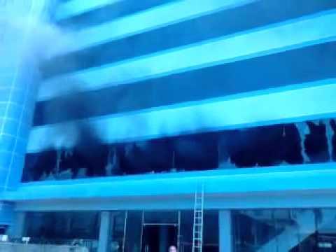 Video, hình ảnh: Siêu thị điện máy CK Plaza trong biển lửa
