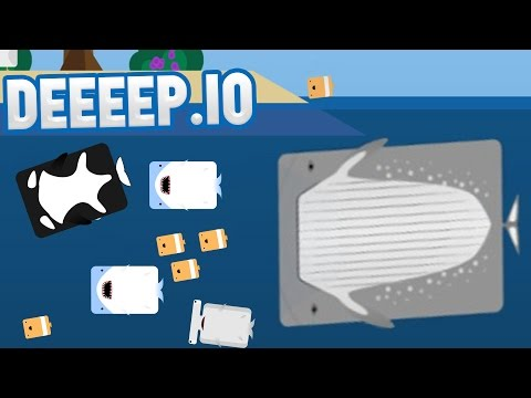 Deeeep.io - LARGEST ANIMAL IN THE SEA! - Becoming A Whale - DEEEEP.io Gameplay Highlights