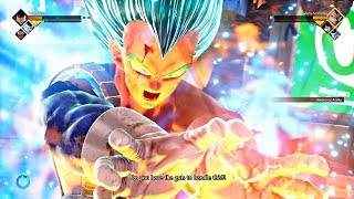 JUMP FORCE - Super Saiyan Blue Vegeta Gameplay & All Supers + SSB Final Flash (PS4 Pro)