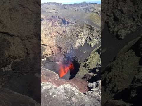 Villarrica Volcano Pucon 10.02.2017 eruption