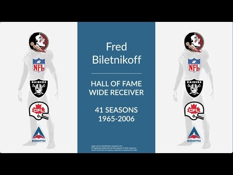 Fred Biletnikoff Hall of Fame Football Wide Receiver
