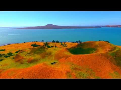 Musik point to Motukorea Browns Island