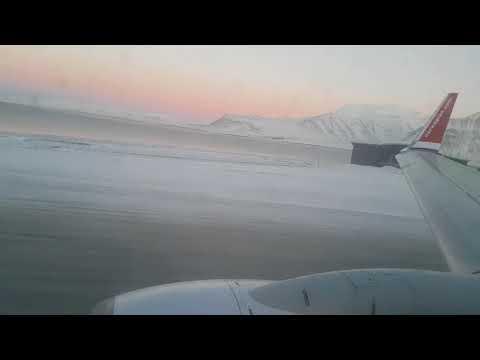 Part 1 - Longyearbyen, Svalbard take off on Norwegian