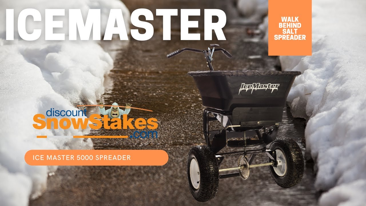 7edb21bf63a3 Walk Behind Salt Spreader From Discount Snow Stakes - YouTube