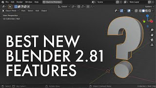 The BEST new features in Blender 2.81 are NOT sculpting or denoising!