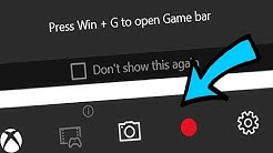 How to use the Game Bar on Windows 10