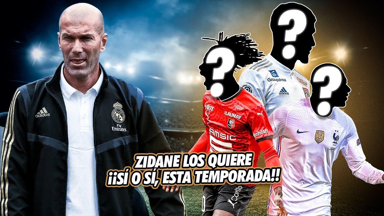 Los 4 FICHAJES que QUIERE Sí o Sí Zidane para esta TEMPORADA ¡Aunque HABÍAN DICHO que NO HABRÍA!