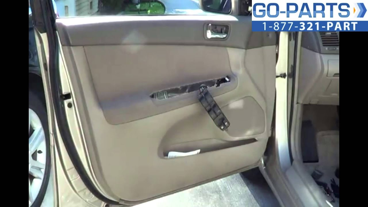 Replace 2002 2006 Toyota Camry Front Door Panel Youtube Autos Post