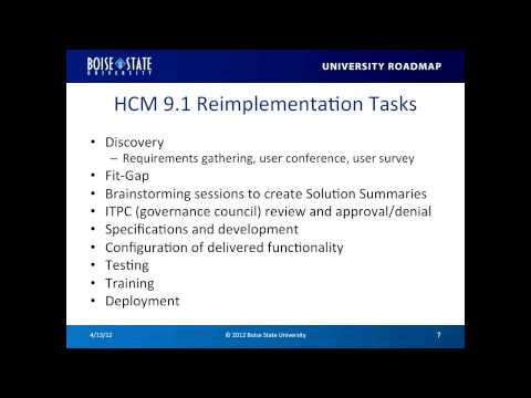 PeopleSoft HCM Project Overview - 040412 Open User Forum