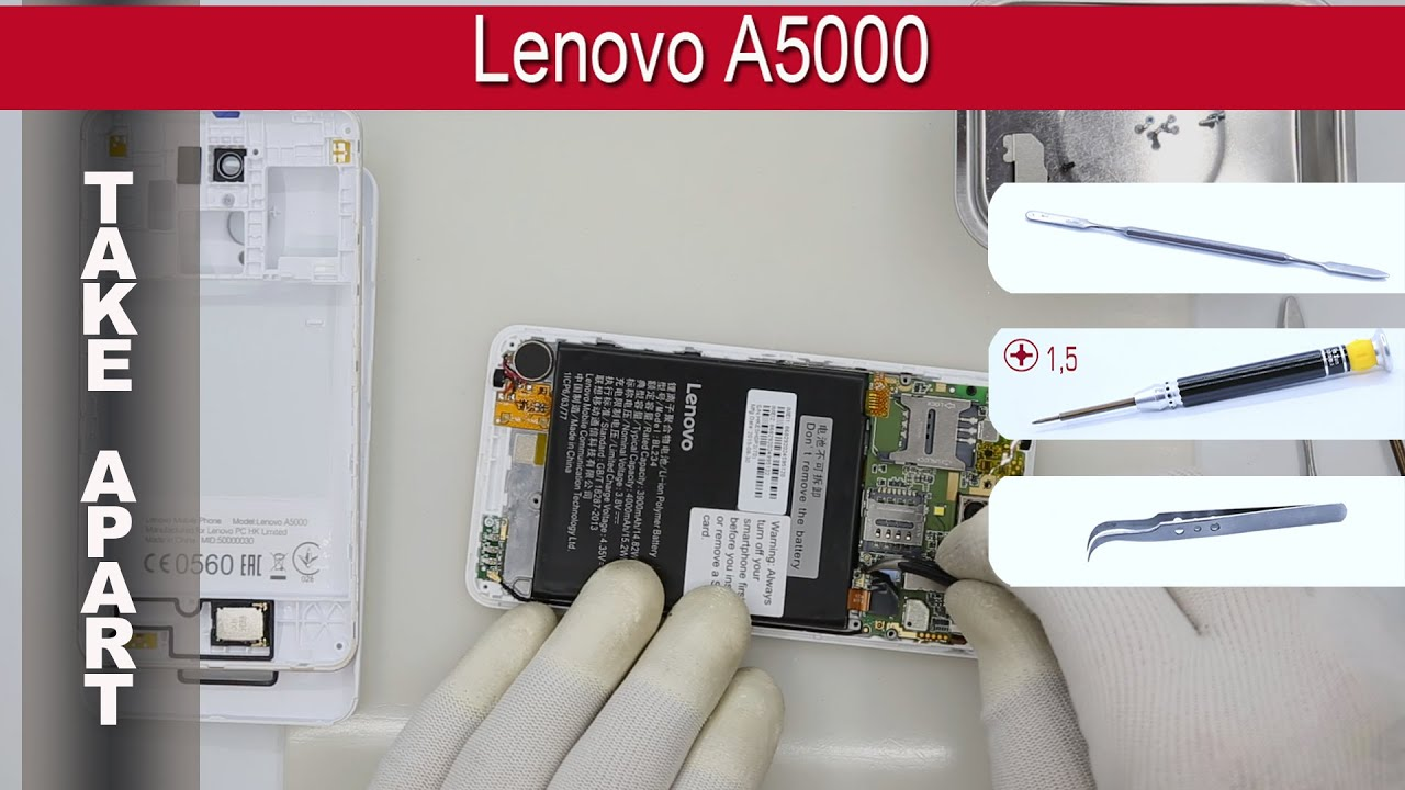 How to disassemble 📱 Lenovo A5000 Take apart Tutorial