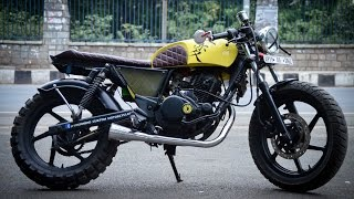 pulsar 200 into a cafe racer fb hyderabad custom motorcycles