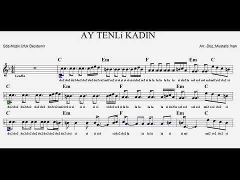 AY TENLİ KADIN--C--(Play Along)--:Guitar,Violin,Flute,Melodica,Recorder.