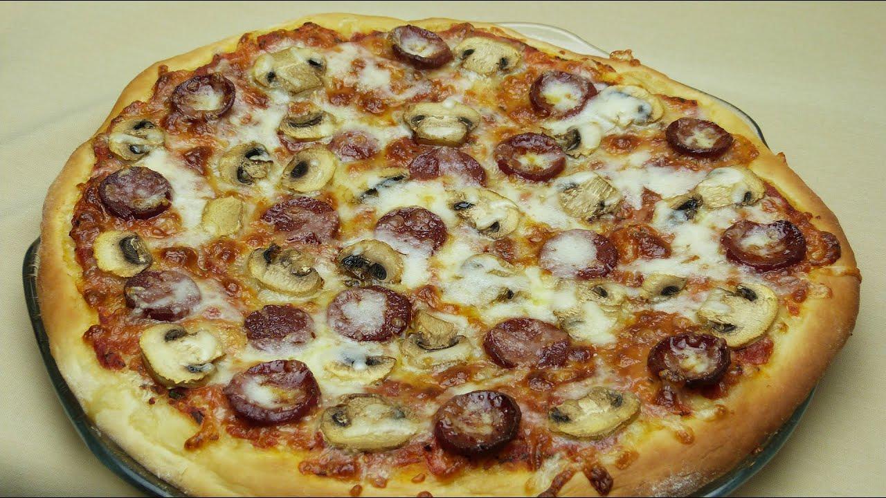 Готовим пиццу с грибами