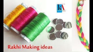 Rakhi Making ideas at home // Easy Rakhi Making Designs#4 // handmade Rakhi