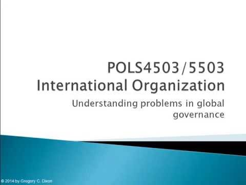 POLS4503.03 Understanding Problems in Global Governance