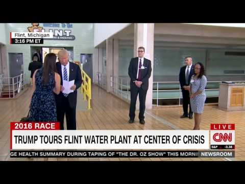 Trump tours and speaks at Flint water plant (9.14.16)